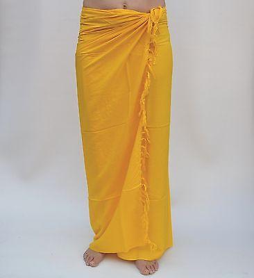 unifarben Premium Qualität Pareo Tücher Wickeltuch Sari Sarongs Sarong SAU613P