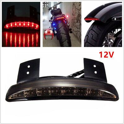 Fit for Honda Yamaha Suzuki Mototcycle Bobber Brake Tail Light LED License Plate