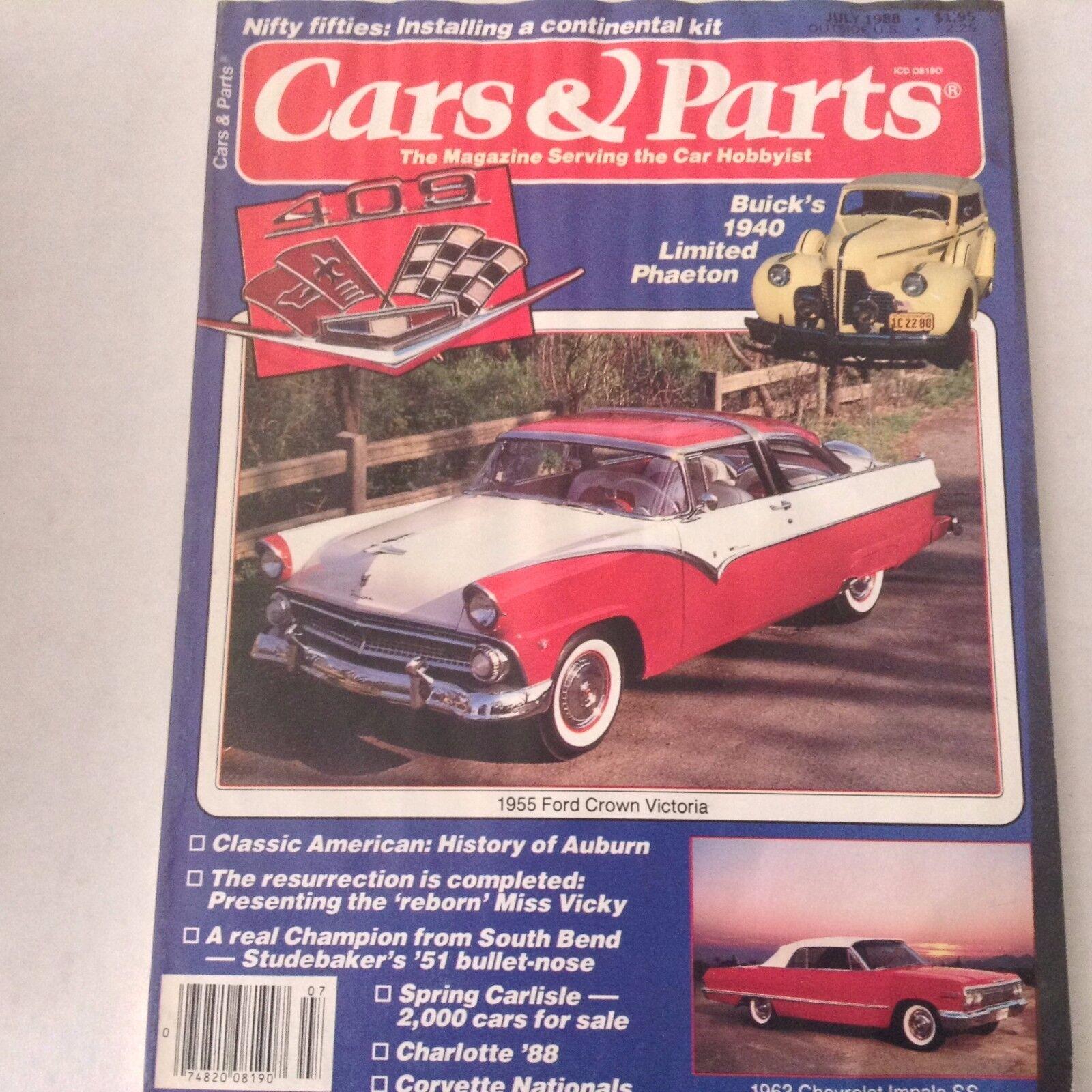 Cars Parts Magazine July 1988 1955 Ford Crown Victoria Ebay 1953 Skyliner