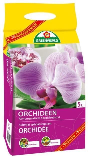 Orchideenerde 5L Spezialerde Spezialsubstrat Orchideen Blumenerde Rindenstücke
