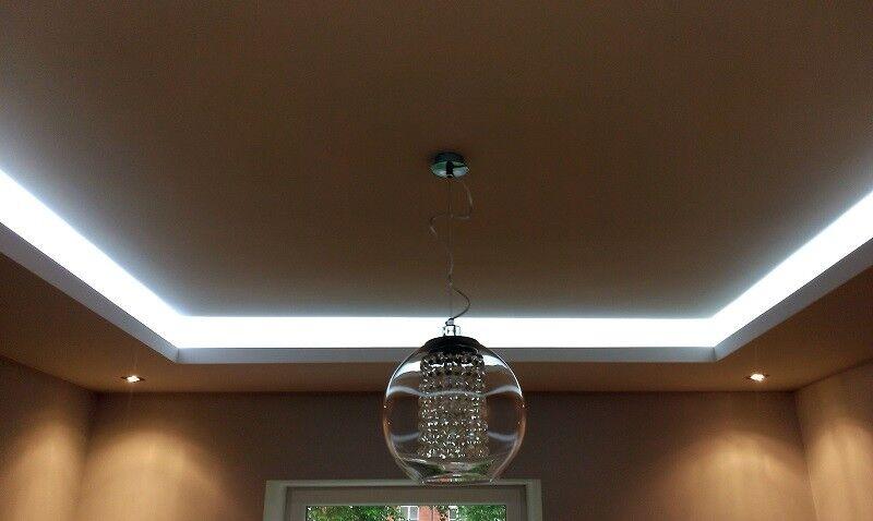 20 Meter LED LichtStrahl Spots Profil für indirekte Beleuchtung XPS OL-27 Weiß