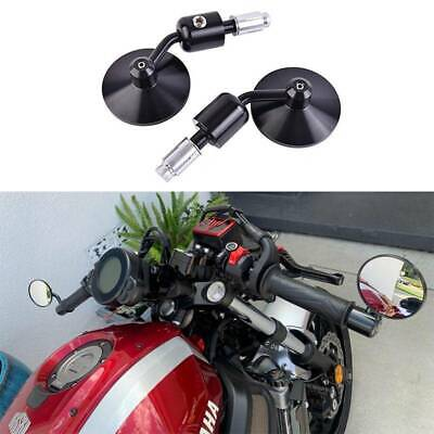 DREAMIZER M8 8mm Black Motorcycle Rearview Handlebar Wing Mirror for Bobber Cruiser Choppers Touring for Street bike Cruiser and chopper Dirt bike Scooter