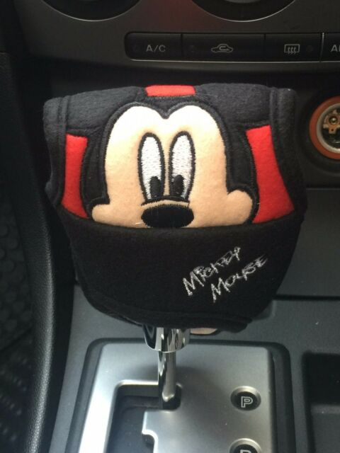 Mickey Mouse Disney Car #E : Automatic Shift Knob Gear Stick Cover Red,Black