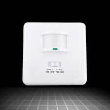 140°PIR Motion Sensor Light Switch Detector Infrared In Wall Occupancy White US