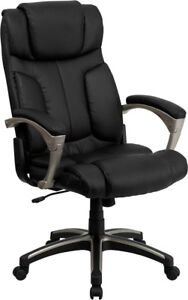 Black-Leather-High-Back-Folding-Home-Office-Desk-Task-Chair-Fits-Under-Your-Desk