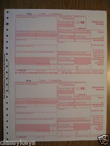 2017 IRS Tax Form 1099-MISC single sheet set for 2 recipients LASER 4-pt #TF6103