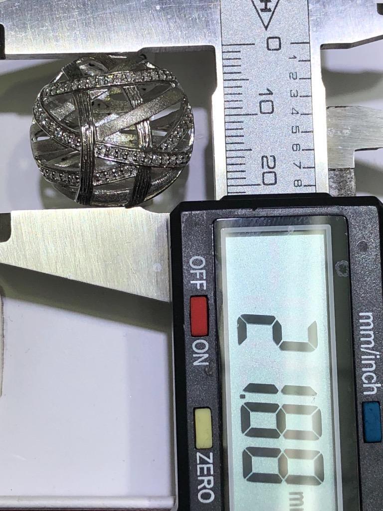 Platino argentoo Sterling Originale Diamanti a a a Pavé rossoondo Cavo Design Fedina af92ac