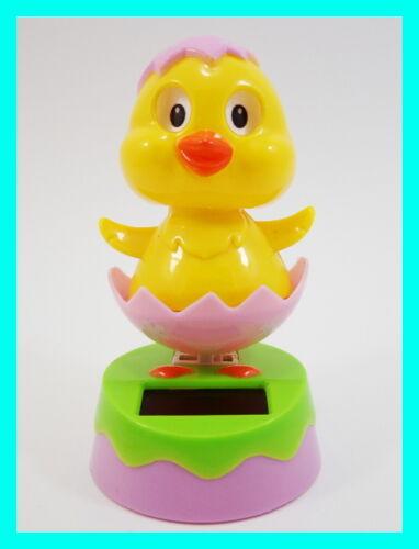 Flip Flap Solar Powered Dancing Chick Swing Dancer Novelty Crazy Bobblehead Toy