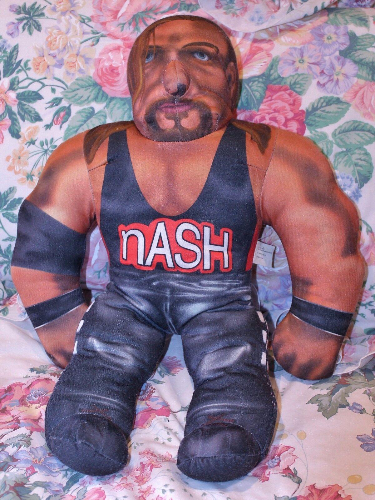 TOY BIZ WCW WRESTLING NWO BASHIN' BRAWLERS KEVIN NASH 21 INCH 1998 TALKING RARE