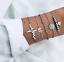 Fashion-Women-Gold-Silver-Punk-Cuff-Bracelet-Bangle-Chain-Wristband-Set-Jewelry thumbnail 94