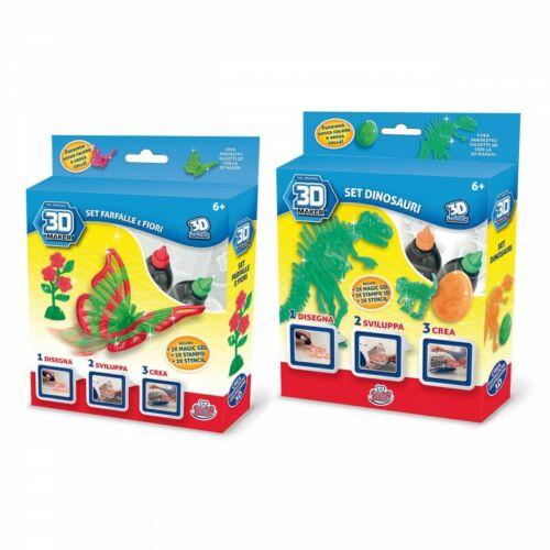 Ricarica Per 3D Maker Crea Farfalla o  Dinosauro GRANDI GIOCHI GG00149