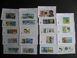 PAPUA-NEW-GUINEA-19-different-MNH-1995-2000-era-sets-in-sales-cards-very-topical