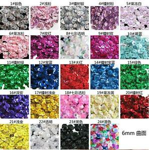 HOT-DIY-2000-pcs-Oval-Round-Cup-Sequins-Paillettes-Loose-AB-6mm-Wedding-Craft