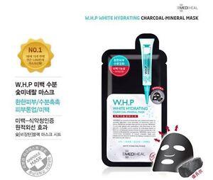 UK-STOCK-Corea-CLINIC-w-h-p-Bianco-Idratante-Maschera-minerale-Antracite-10-PZ