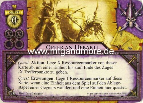Warhammer invasion le quatrième wegstein 2x victimes à hekarti #097
