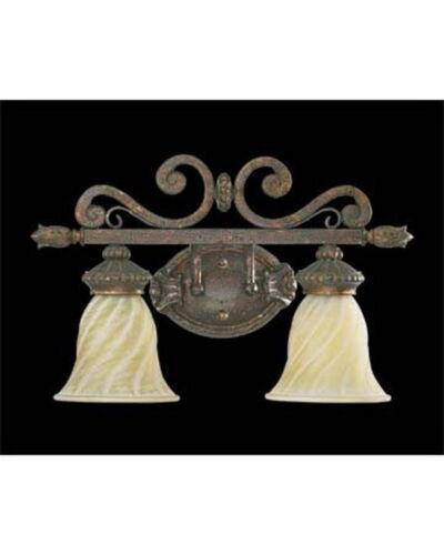"Quorum International 5280-2899 Byzantine 2 Light 19/"" Wide Bathroom Dauphine"
