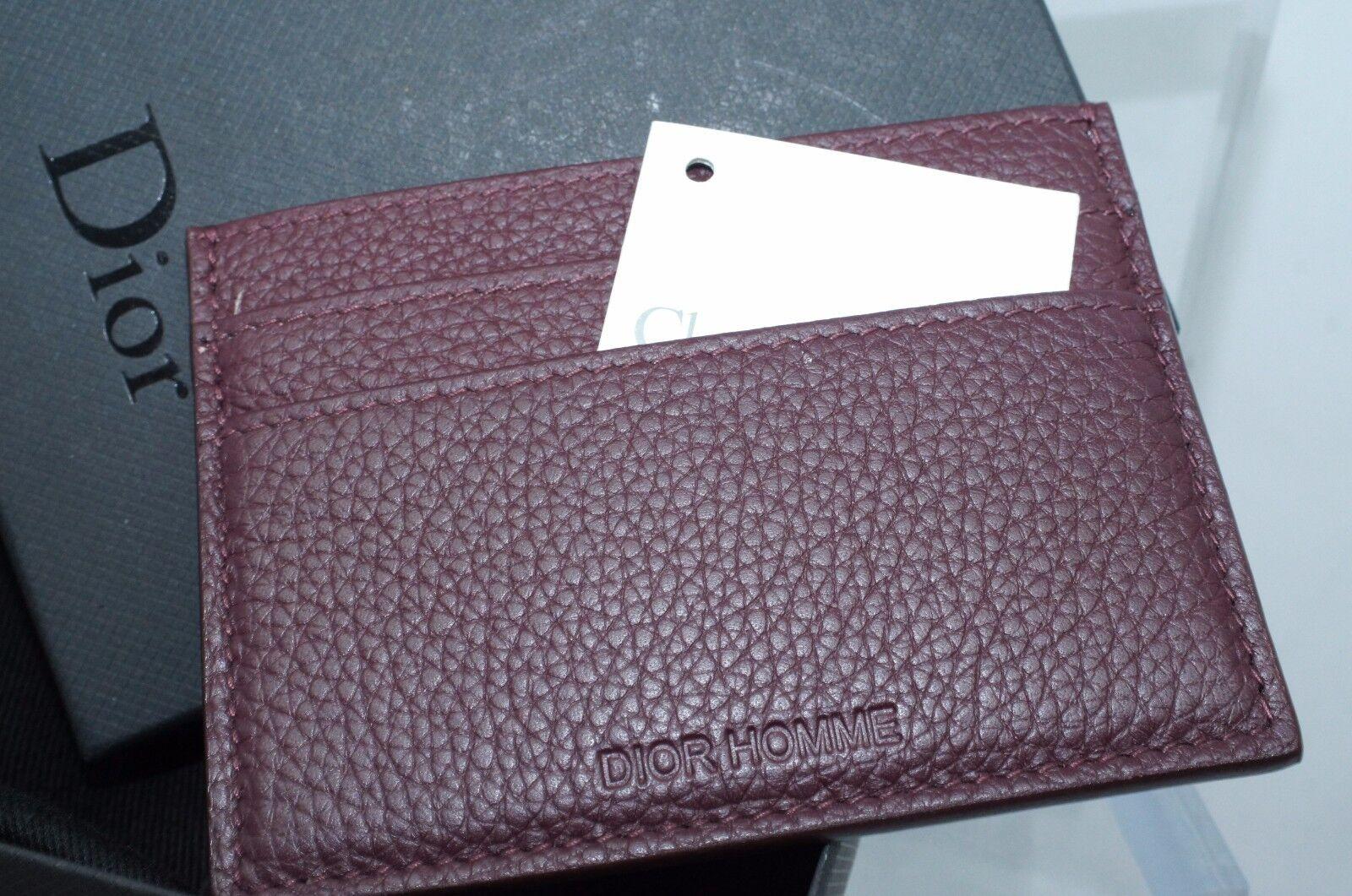 66df224d07 Christian Dior Men's Wallet Credit Card Case Money CC Holder Leather ...