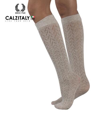 Gambaletti in Cotone Traforati Calzettoni a Maglia Moda inverno Colori 300 DEN