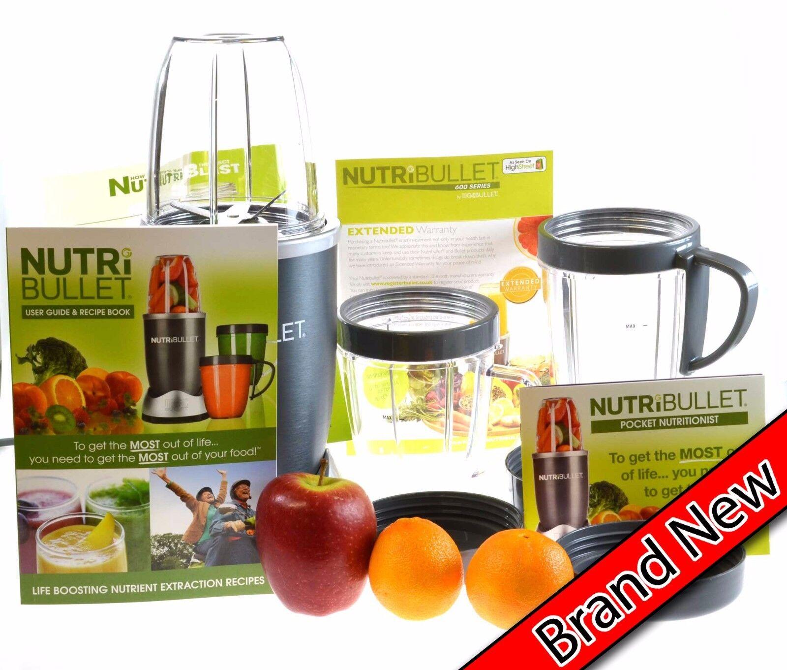 NutriBullet 600 Série 12 Pièce Blender Mixeur smoothie jus extracteur 600 W