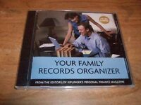 Kiplinger's Personal Finance: Your Family Records Organizer Cd Rom Win/mac