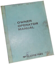 Teledyne Pines A1400 Rotary Tube Bender Owners Manual