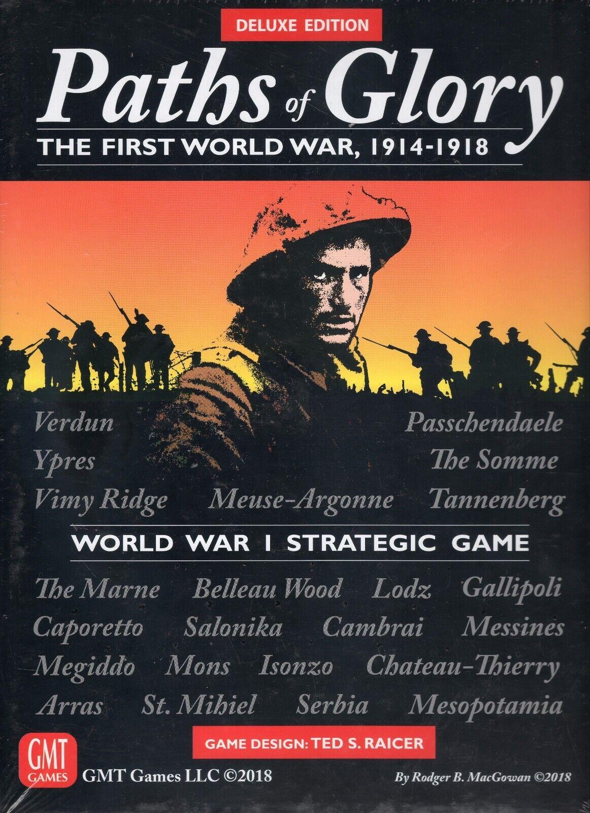 GMT Paths of Glory  la première guerre mondiale Deluxe Edition Jeu De Plateau mettant