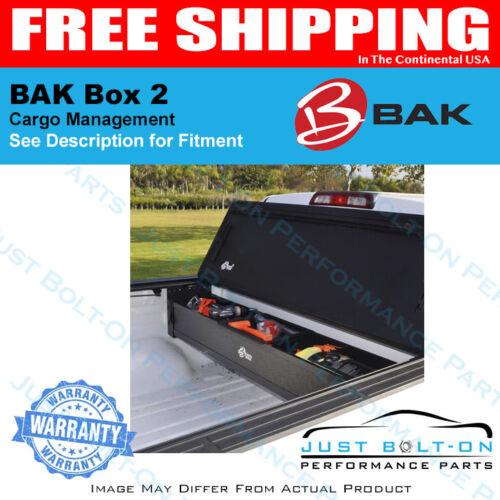 "BAK Box 2 Trunk Organizer Fits 1994-2018 Ram W-O Ram Box 6/' 4/"" 8/' beds 92201"