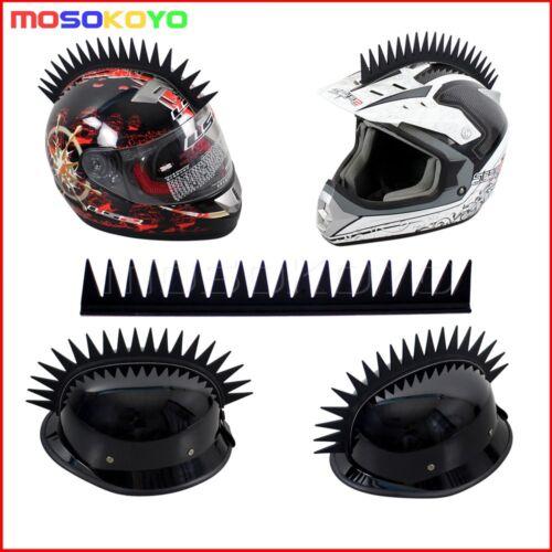 Rubber Motorcycle Helmet Warhawk Spikes Mohawks Dirtbike Sticker Spikes 5 Colors