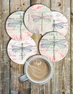 Pretty-Dragonfly-Drink-Coasters-Set-of-6-Neoprene