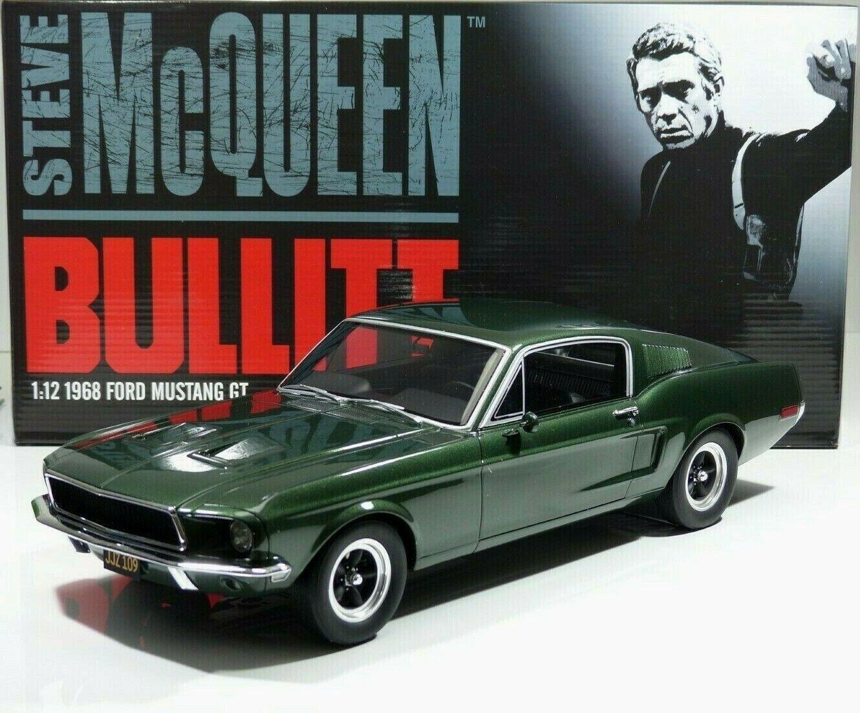 68er FORD MUSTANG GT 390 Steve McQueen Bullitt dark-verde 1 12 ACME GT Spirit