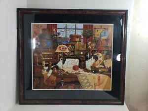 Maggie-the-Messmaker-Signed-Framed-Cat-Print-Charles-Wysocki-3321-6500