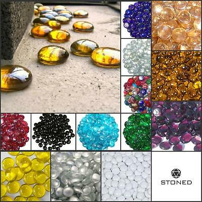 10 Decorative Glass Pebble Stones Beads Vase Nuggets Wedding Decoration Home & Garden