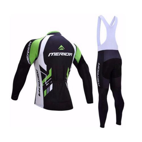 Bib Tights Kit Merida Biking Clothing Men/'s Long Sleeve Cycling Jersey Pants