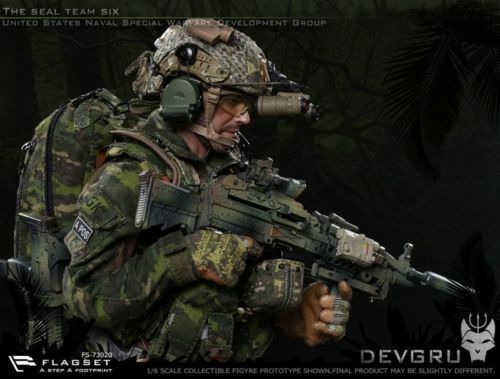 1 6 Scale FLAGSET FS-73020 The Seal Team Six DEVGRU Male Solider Action Figure