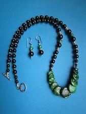 Excellent! Green Imperial JASPER Coin Necklace Set ...so elegant!