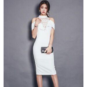 Caricamento dell immagine in corso Elegante-raffinato-vestito-abito-tubino -lungo-donna-bianco- a9e82be3549