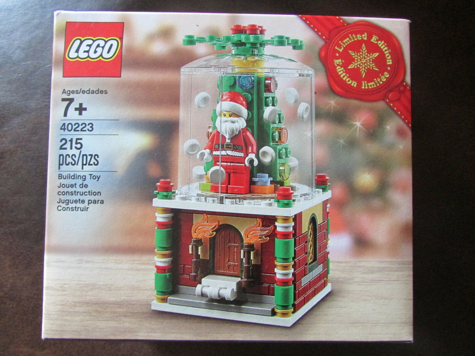 LEGO Christmas Snowglobe BRAND NEW FACTORY SEALED SEALED SEALED 215pcs, 2016 Limited Ed d73e44