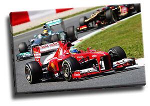 Fernando Alonso Ferrari Formula One Canvas Picture