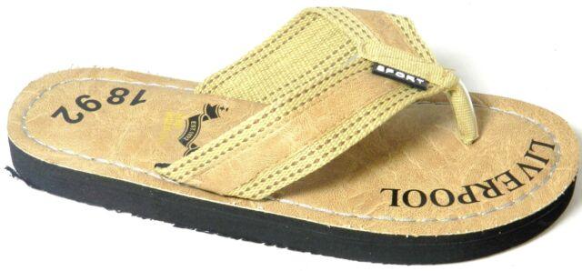 b4a9da76a4b33a Men s Black Brown Tan Green Flats Flip Flop Sandals Thongs Slip On Shoes Sz  ...