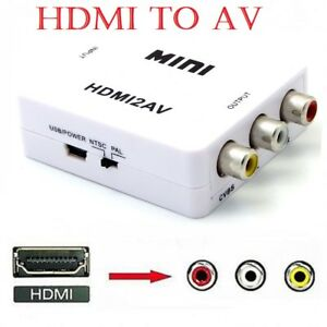 HDMI to 3 RCA CVBS Full HD Video 1080P AV Scart Composite Converter Adapter 711005758772