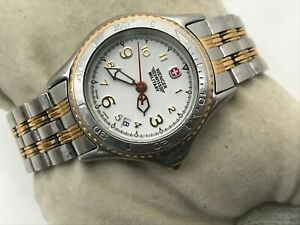 Wenger Swiss Military Ladies Watch Swiss Made Gold/Silver Tone Date Calendar
