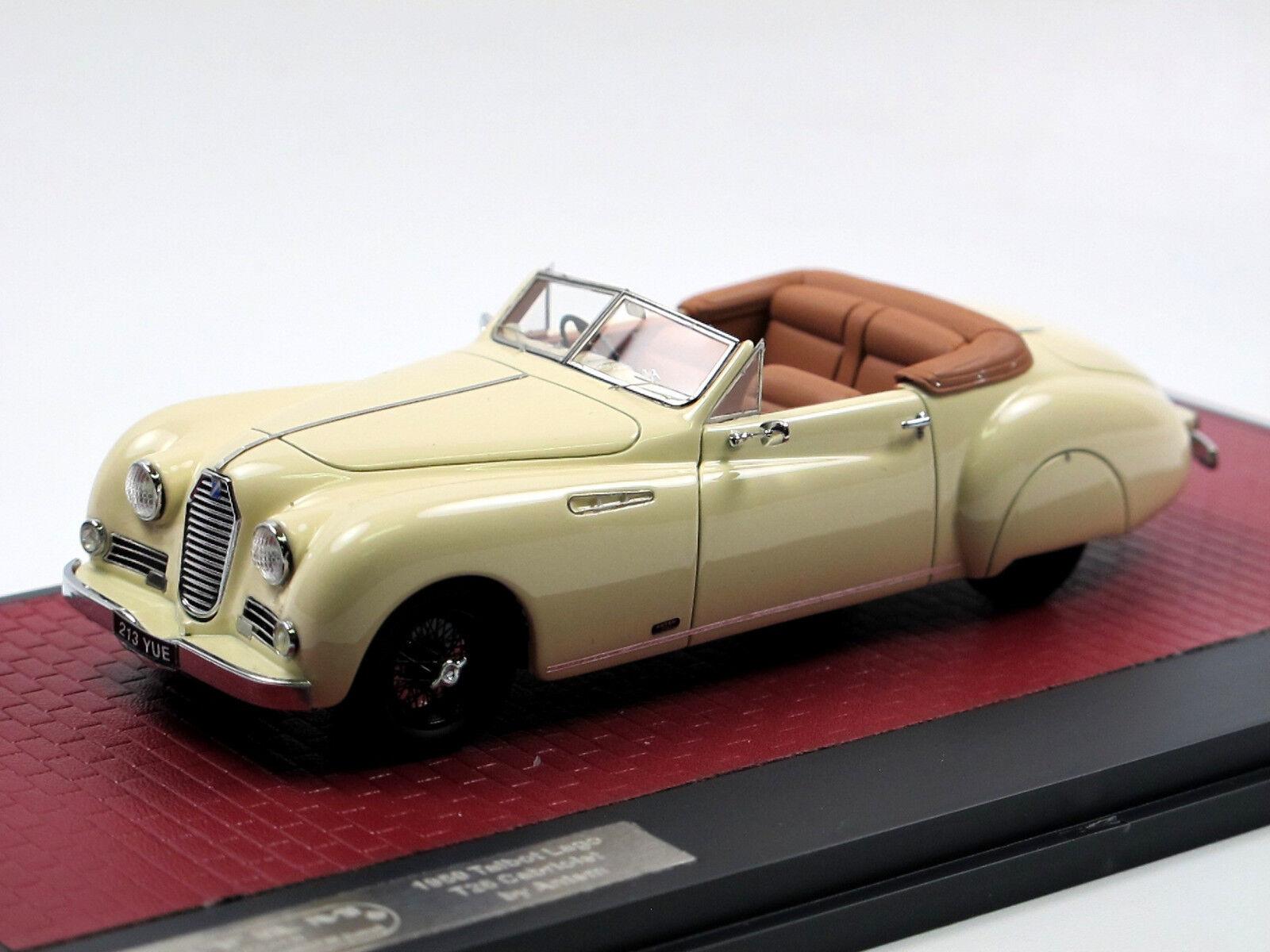 MATRIX SCALE MODELS 1950 TALBOT LAGO t26 Cabriolet by ANTEM Cream 1 43