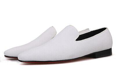 Merlutti Plain White Velvet Loafers