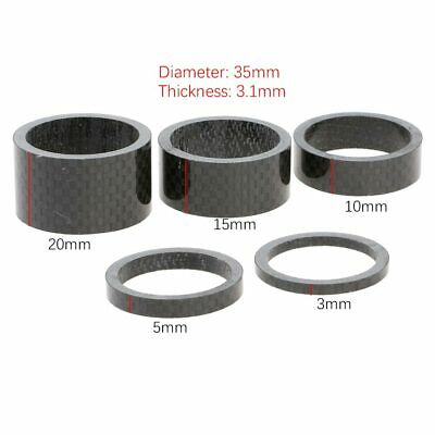 "5X Bike Headset 28.6mm Stem Spacers 1-1//8/"" Bicycle Washers 5//10//15mm BMX MTB"