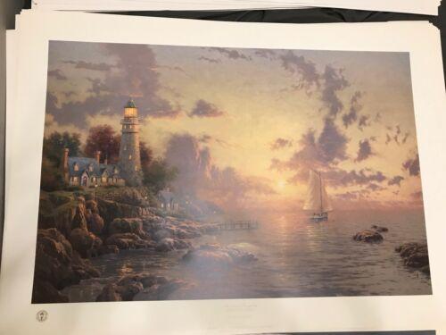 "New Thomas Kinkade lithograph Sea Of Tranquility 22/"" x 31/"""