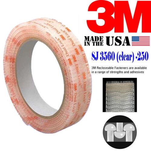 """3M SJ3560 Width 1/"""" x 24/""""Inch Dual Lock Tape VHB Clear Reclosable Fastener Roll"""