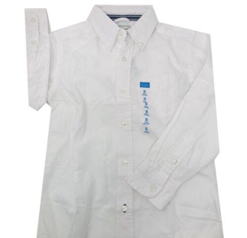 NEW The Children/'s Place Kid/'s Boys/' Long Sleeve Uniform Polo White Shirt S 5-6
