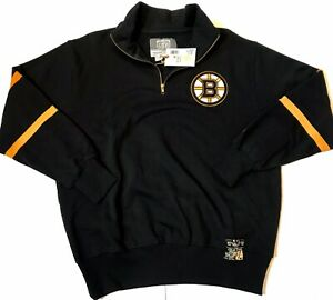 NEW-Boston-Bruins-Mens-Large-Old-Time-Hockey-Sweater