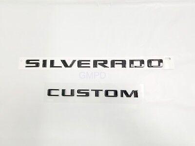 2019 Chevrolet Silverado Door /& Tailgate Silverado Custom Black Emblem 84300948