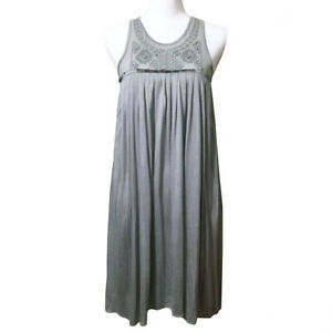 Banana-Republic-Embellished-Dress-XS-Women-039-s-Embroidered-Sleeveless-Silver-Grey